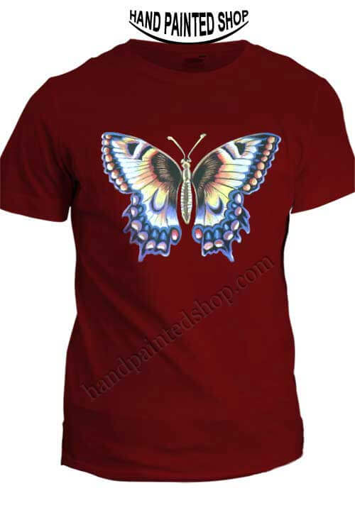 Butterfly-painted-t shirt