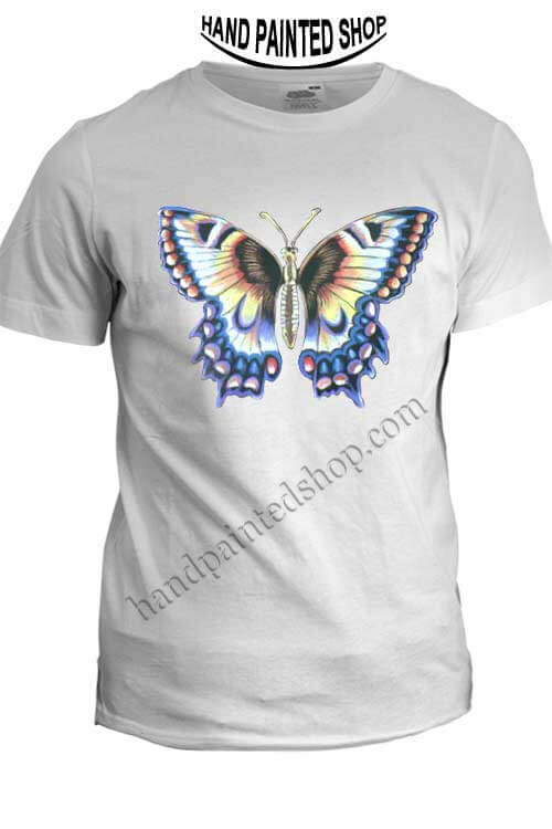 Butterfly-painted