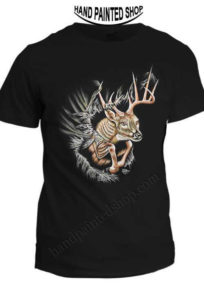 T-Shirts Hand Painted Deer
