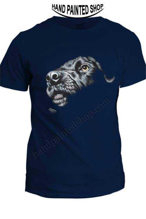 painted t-shirt dog