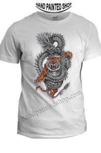 Dragon Tiger Painted T-Shirts