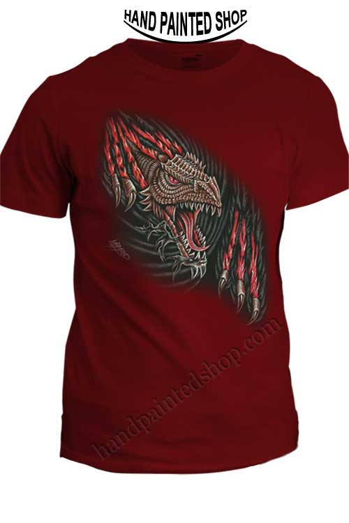 Dragon t-shirt painted