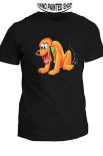 Painted Famous dog t-shirts