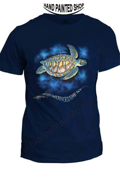 T-Shirts paint Green Turtle