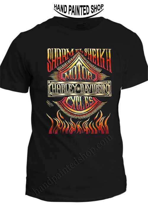 hand painted t-shirts Harley