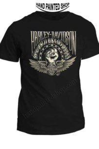 painted t-shirt Harley-davidson