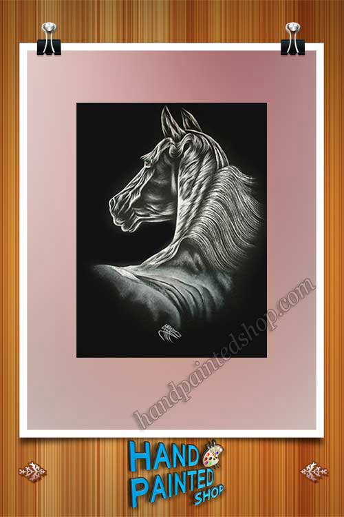 horse painted
