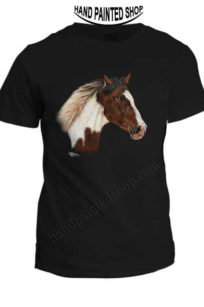 Horse painted t-shirt