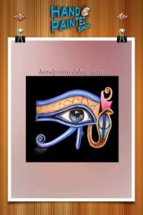 Horus Eye-frame painted