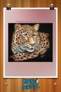 painted frame leopard