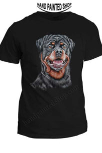 Rottweiler dog painted t shirt