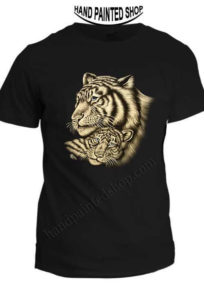 Tiger t-shirt painted