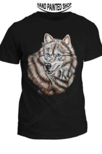 wolf painted t-shirts