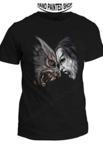 t-shirt vampires vs wolves‬‏
