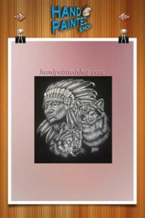 Indian wolf frame